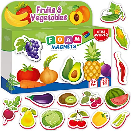 Amazoncom Refrigerator Magnets For Kids Fruits Veggies 31 Pcs