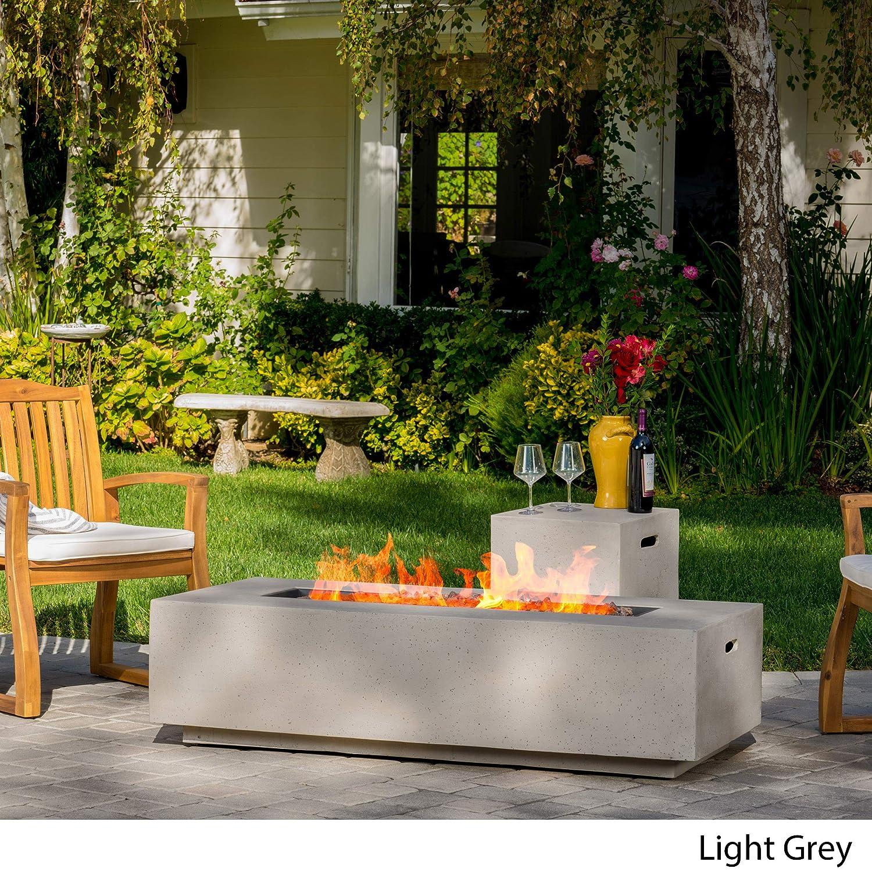 Amazon.com: GDF Studio Jaxon mesa de fuego para exteriores ...