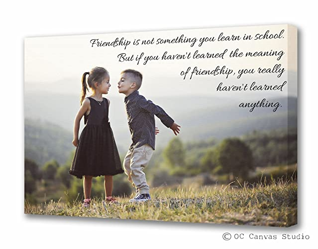 Amazoncom Gift For Sisterbrother Personalized Photo Canvas Print