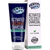 Activated Charcoal Teeth Whitening Toothpaste with Organic Coconut Oil - MADE IN USA –  Best Natural Whitener, Vegan, Fluoride Free, Sulfate Free, Zero Peroxide for Sensitive Teeth, Safe for Kids.