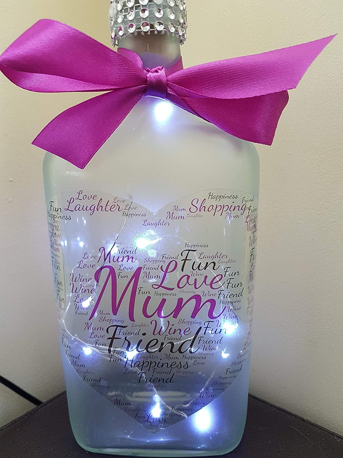 MUM FROSTED LIGHT UP BOTTLE