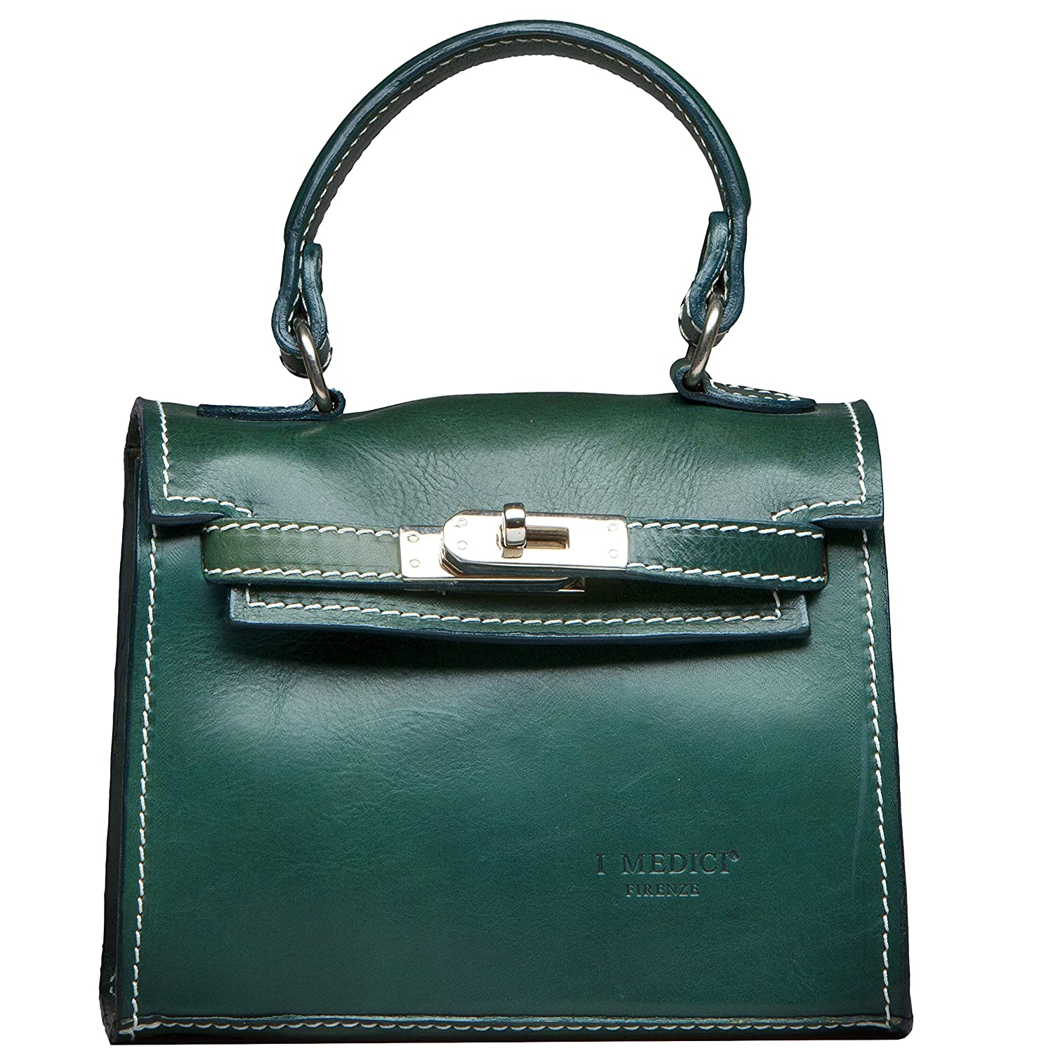 Messenger Bag by I Medici That are Directly Imported from Italy Green Bag 1900