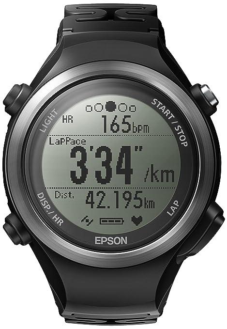 Epson Runsense SF-810B - Reloj inteligente y monitor deportivo con GPS (sensor de