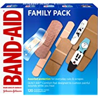 Band-Aid Brand Adhesive Bandage Family Variety Pack in Assorted Sizes including Water Block, Sport Strip, Tough Strips…