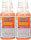2 Combo Pack Children's Motrin Ibuprofen Pain Fever Reliever Original Berry Flavor of 4 Oz
