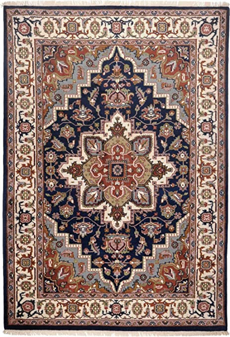Teppichgrößen imperial heriz knotted rug in blue teppichgröße 190 cm x 290 cm