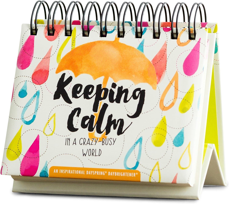 DaySpring Flip Calendar - Keeping Calm in a Crazy-Busy World - 49906,Multi - Color