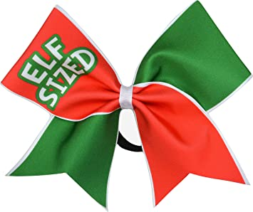 sparkle bows cheer christmas cheer bow elf sized