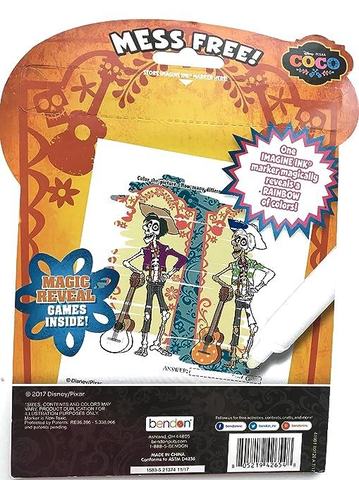 Disney Pixar Coco Imagine Ink Magic Ink Pictures Game Activity Book