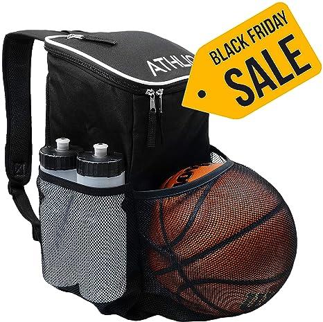 7544b9e9493f Amazon.com  ATHLIO Gym Bag Backpack - External Ball   Equipment ...