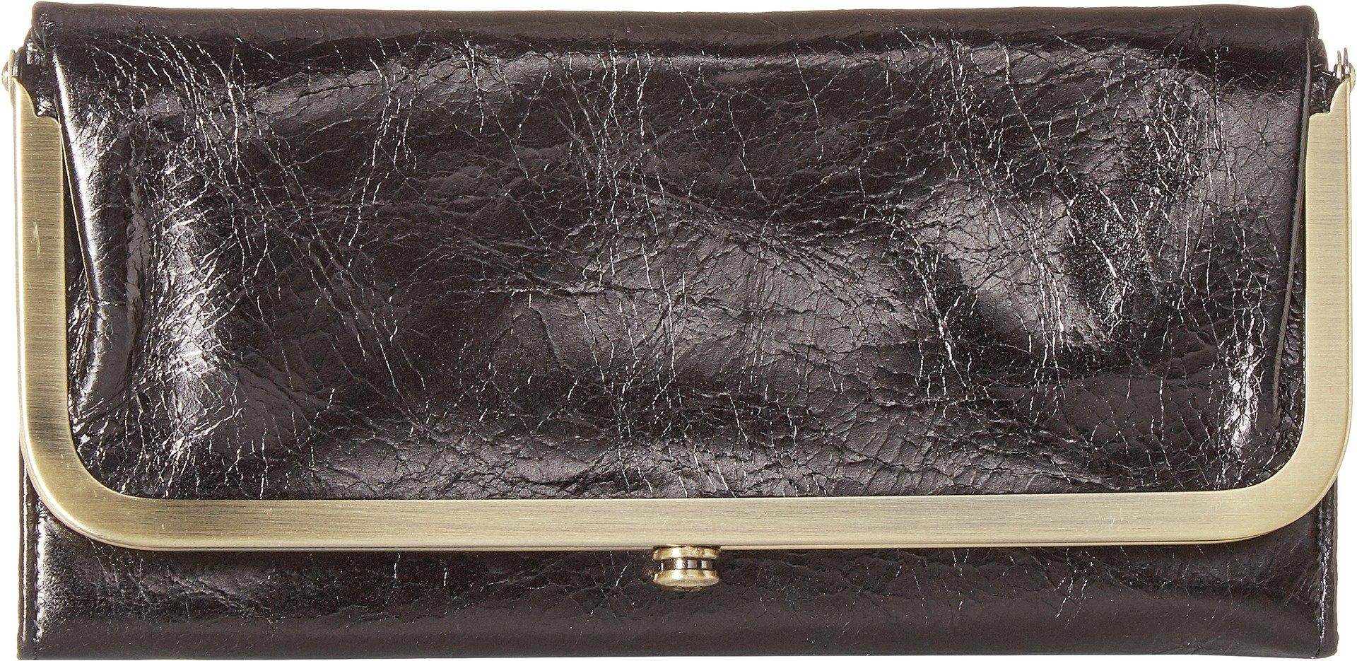 Hobo Womens Rachel Vintage Wallet Leather Clutch Purse (Black)