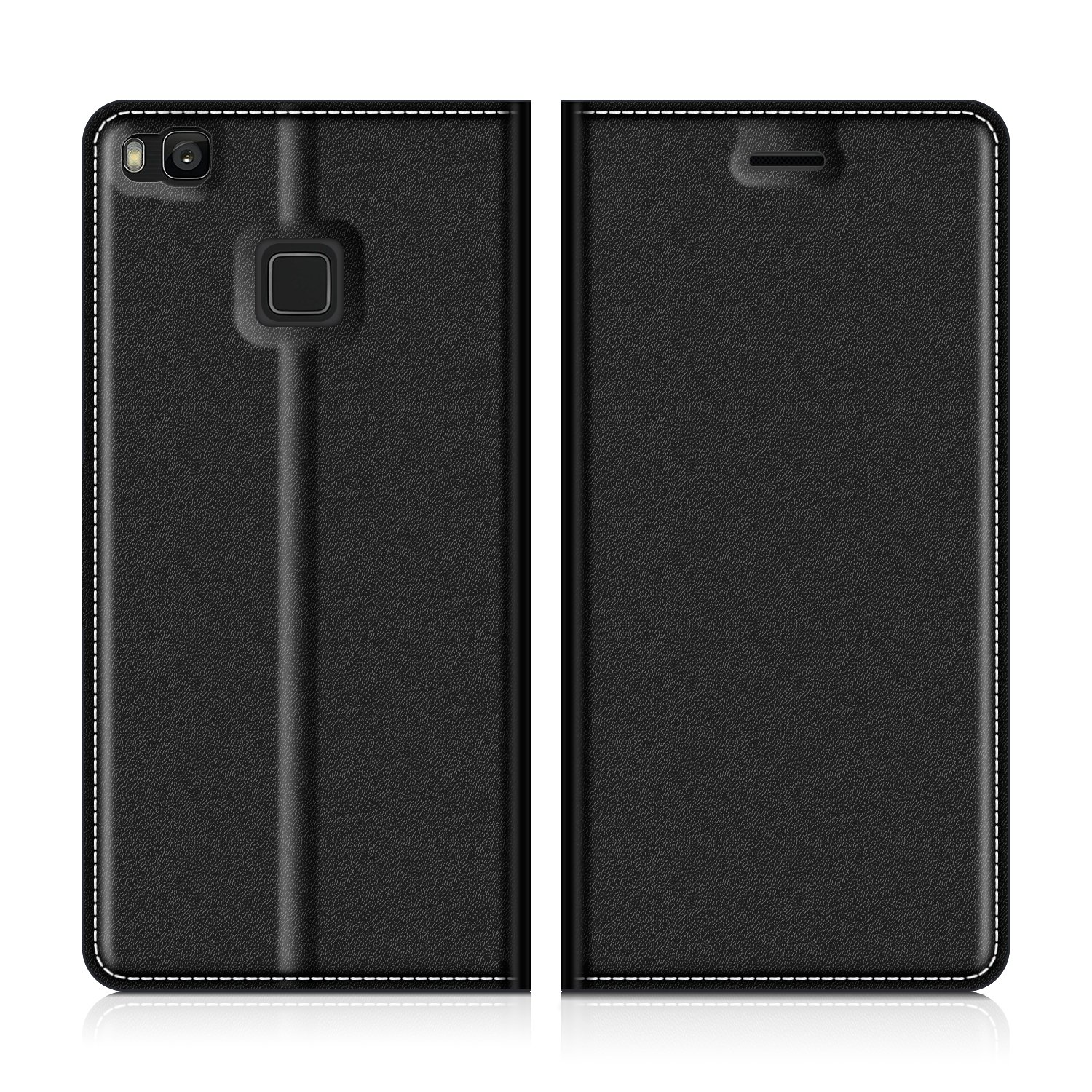 watch 0db76 6d1f5 Huawei P9 Lite Wallet Case, Mobesv Huawei P9 Lite Leather Case/Phone Flip  Book Cover/Viewing Stand/Card Holder for Huawei P9 Lite, Black