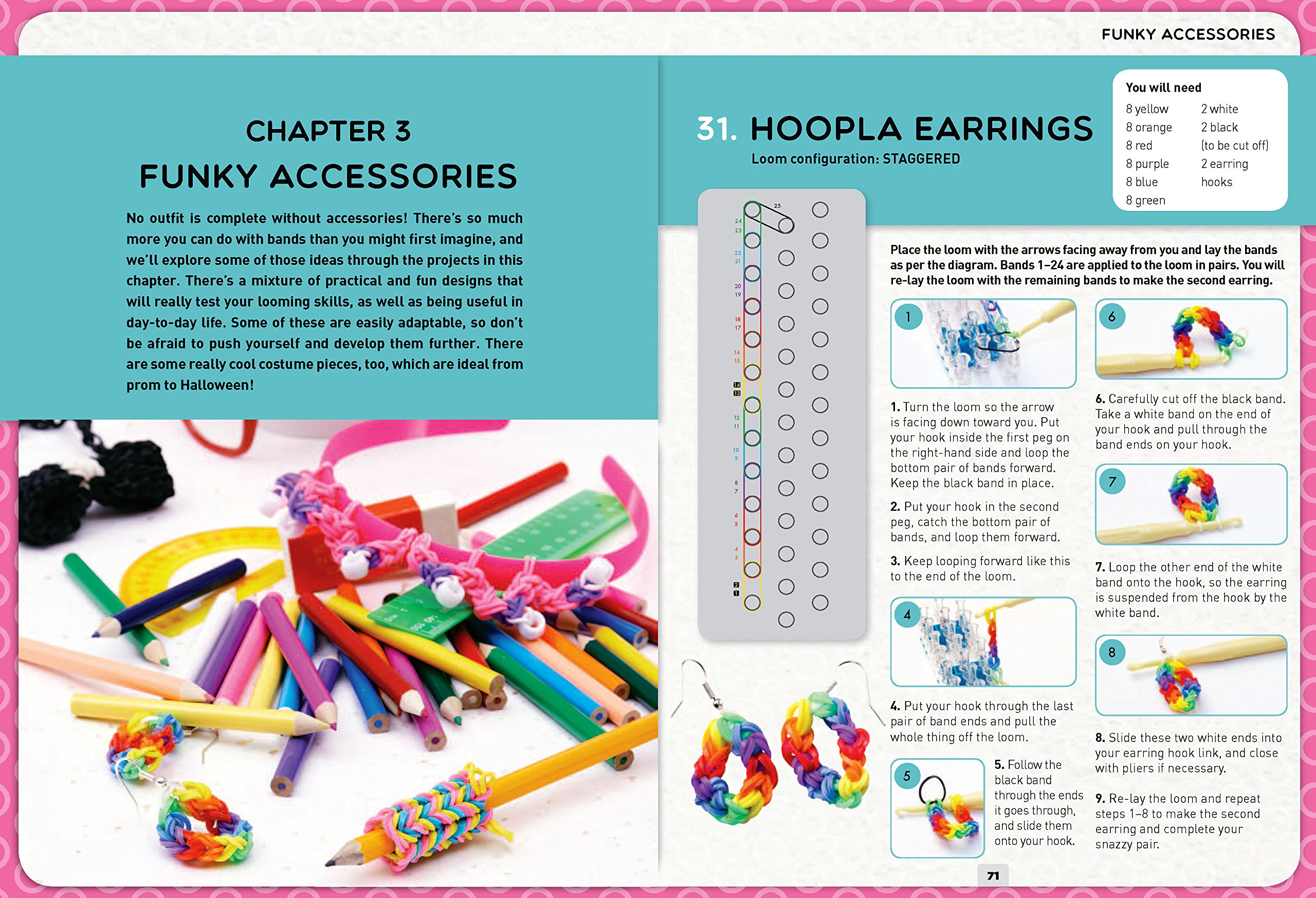 Loom Band It: 60 Rubberband Projects for the Budding Loomineer by Barron's Educational Series (Image #6)