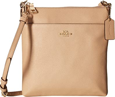 95cc941fb8 Amazon.com  COACH Women s Messenger Crossbody in Crossgrain Leather  Li Beechwood One Size  Shoes