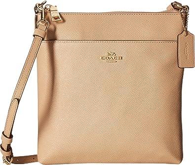 19c7a9068b76 Amazon.com  COACH Women s Messenger Crossbody in Crossgrain Leather  Li Beechwood One Size  Shoes