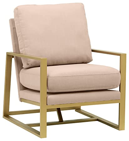 Pleasing Rivet Charlotte Mid Century Modern Upholstered Gold Accent Chair 29W Dusty Rose Ocoug Best Dining Table And Chair Ideas Images Ocougorg
