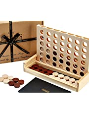 Jaques of London Classic Score 4 - Connect Four Game, Have Wonderful Family Fun with a Connect 4 Game - Handmade Wooden Games Since 1795