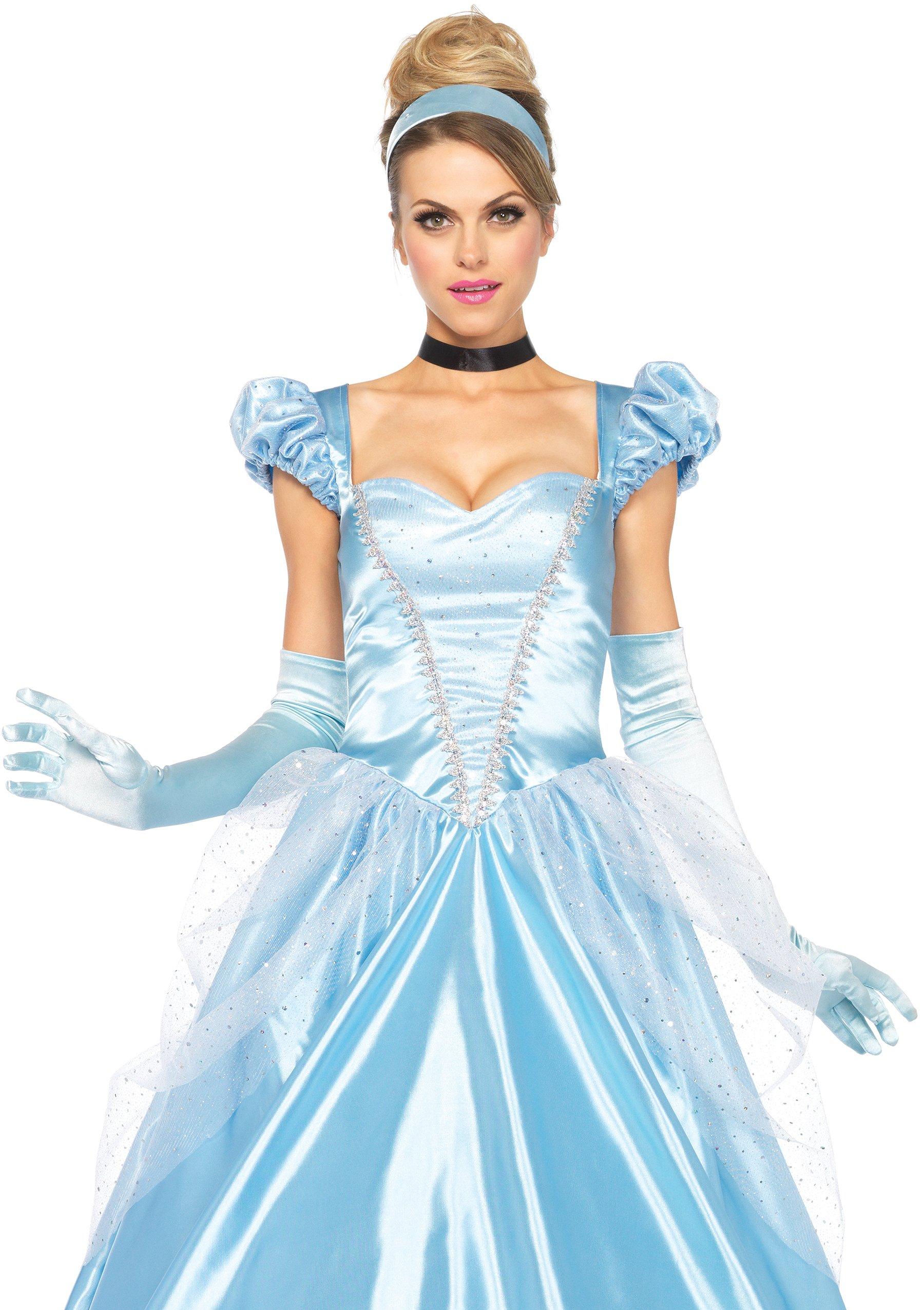 Leg Avenue Disney 3Pc. Classic Cinderella Costume, Blue, Large
