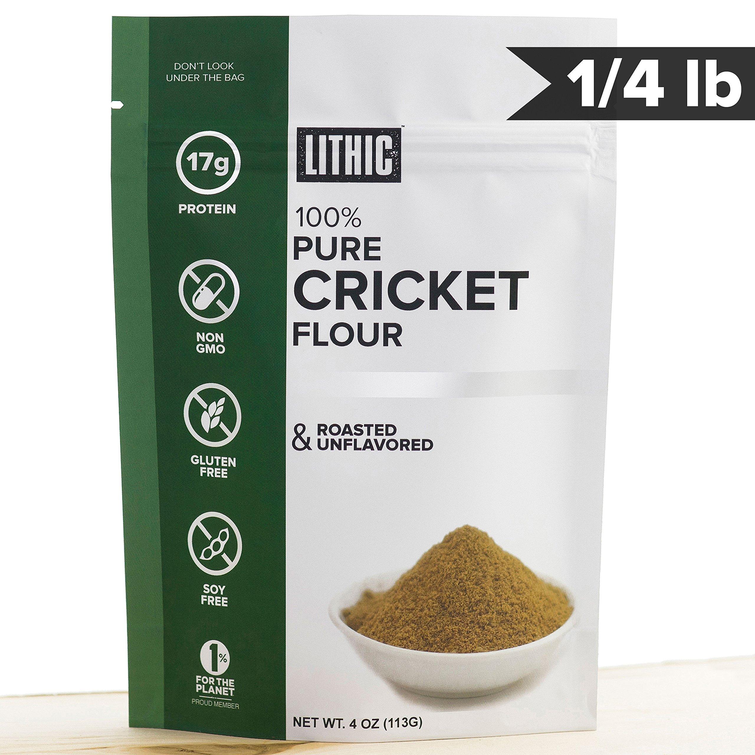 Cricket Flour, Cricket Powder :: 1/4LB (113g) :: Keto Flour :: Paleo Flour :: Sustainable Food :: Whole 30 Friendly :: Gluten Free Flour :: TRIAL SIZE :: Lithic Cricket Flour by Lithic Foods