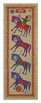 Pitorah Paintings Handmade Paper Horses of God Painting (20 cm x 0.1 cm x 56.5 cm)