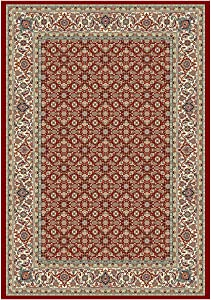"""Dynamic Rugs Ancient Garden Collection Area Rug, 3'11"""" by 5'7"""", Red/Ivory"""