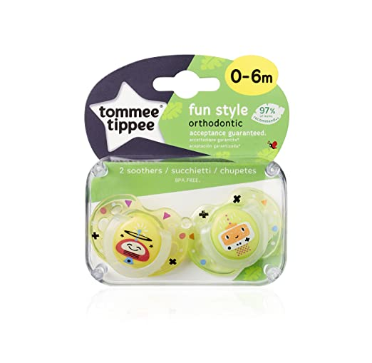 Amazon.com : Closer To Nature Fun Style Soothers, 0-6 Months ...