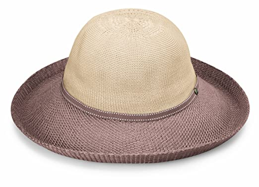 f5df10efce5 Wallaroo Hat Company Women s Victoria Two-Toned Sun Hat - Beige ...
