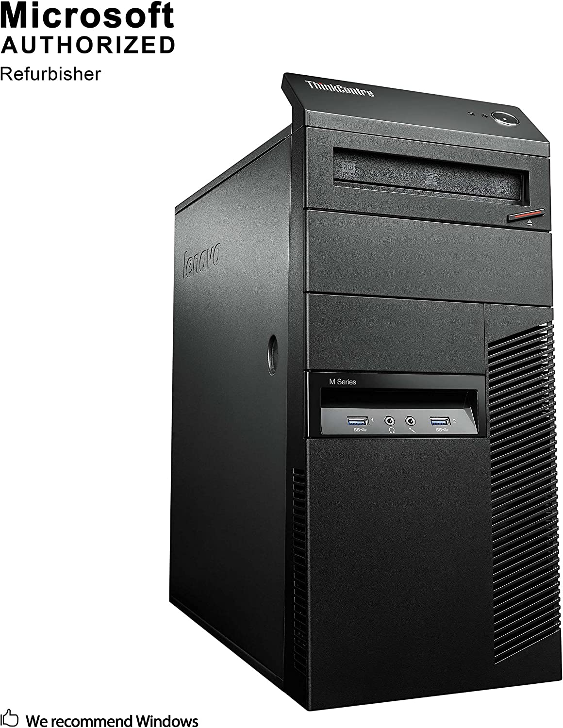 Lenovo ThinkCentre M93p Tower Desktop PC, Intel Core i5 4590 up to 3.7GHz, 8G DDR3, 120G SSD + 500G, WiFi, Bluetooth 4.0, DVD, Windows 10 64 Bit-Multi-Language Supports English/Spanish/French(Renewed)