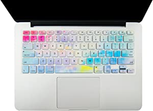 """KECC Keyboard Cover Skin for New MacBook Pro 13"""" & Pro 15"""" (2020/2019/2018/2017/2016) A2159/A1989/A1706/A1990/A1707 Touch Bar (Rainbow Mist 2)"""