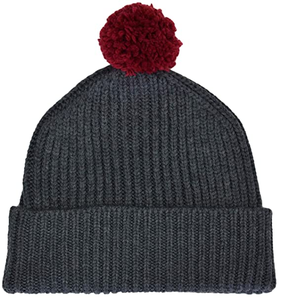 7ad662a7cbd Komodo - Chunky Women s Winter Pompom Cuff Merino Wool Warm Knit Habib Beanie  Hat (Charcoal) at Amazon Women s Clothing store