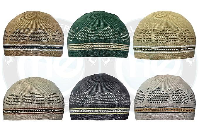 8c32076b25ac4 Manaal Enterprises New Islamic Elastic Beanies Men Muslim Skull Kufi Cap  100% Cotton 21