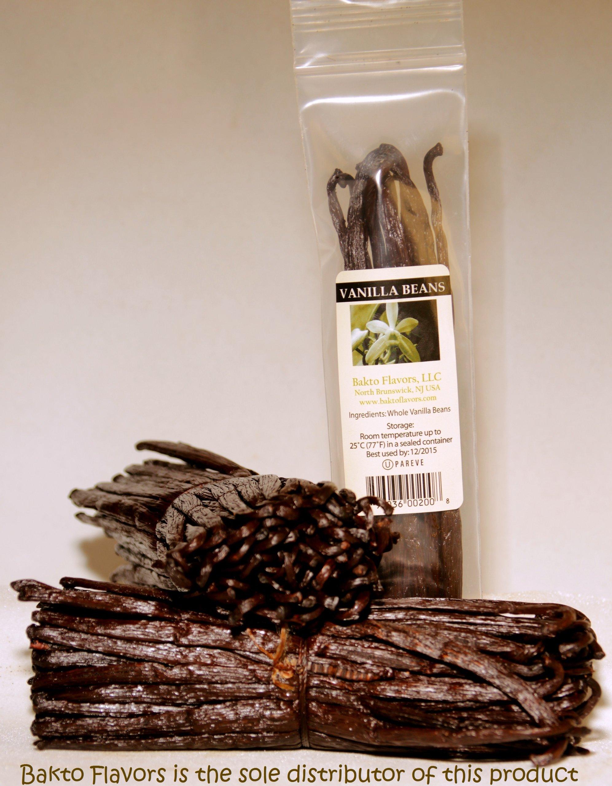 Bakto Flavors Vanilla Beans-Madagascar Gourmet-10 beans-Safest Products on the Market