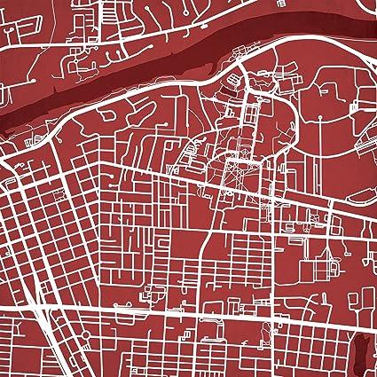 Amazon Com University Of Alabama Campus Map Art Unframed 12 X 12