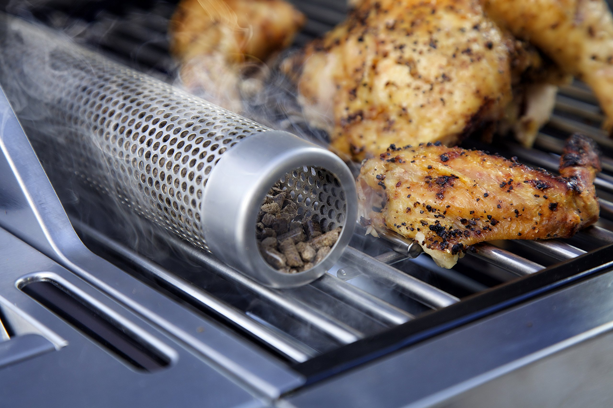A-MAZE-N 12'' Pellet Tube Smoker Prefilled With 100% Hickory BBQ Pellets