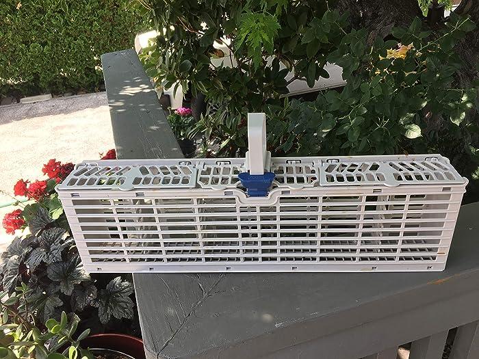 (RB) W11158802 Dishwasher Silverware Basket for Whirlpool, Maytag AP6023510, PS11756854