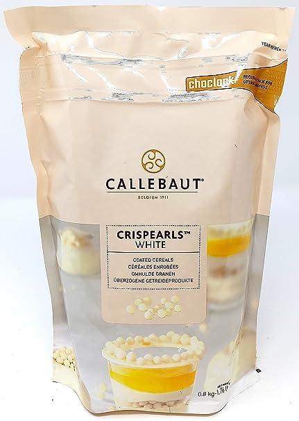 Callebaut Crispearls Blanco - Perlas de Galleta Tostada (cereales) bañadas con Chocolate Blanco 800g