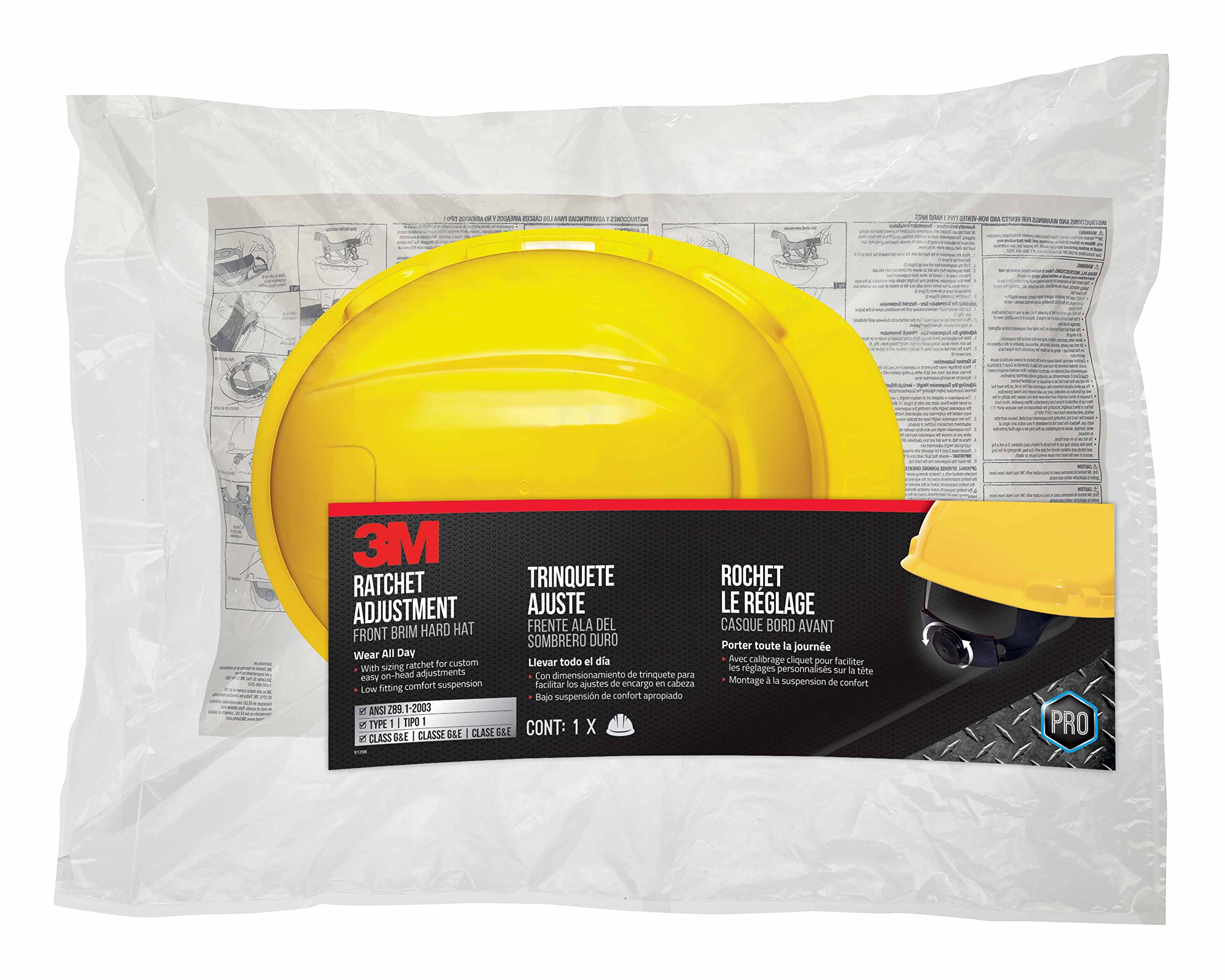 3M Non-Vented Hard Hat with Ratchet Adjustment