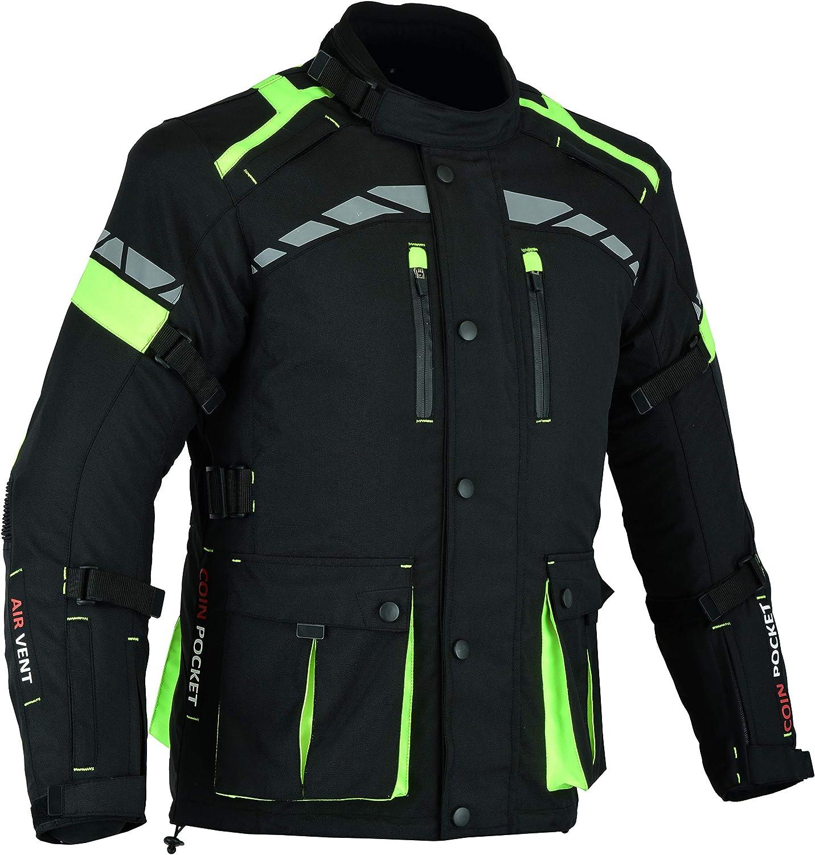 blindada de alta protecci/ón color negro CJ-9488 para hombre Chaqueta impermeable para motociclistas