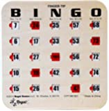 Regal Games Woodgrain / Tan Fingertip Shutter Slide Bingo Cards