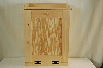 Kenzieu0027s Kreations Handcrafted Wooden Trash Can, 13 Gallon