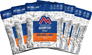 Mountain House Chili Mac with Beef | Freeze Dried Backpacking & Camping Food | 6-Pack