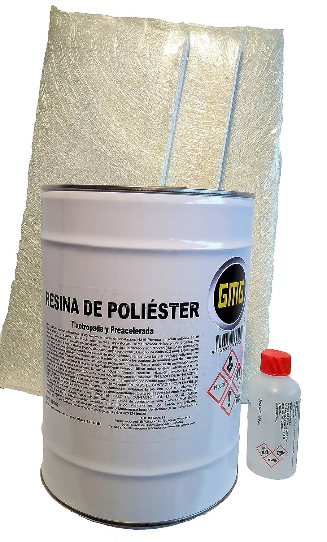 RESINA DE POLIESTER 5kg (+ su Catalizador) + 3 m2 de Manta: Amazon.es: Coche y moto
