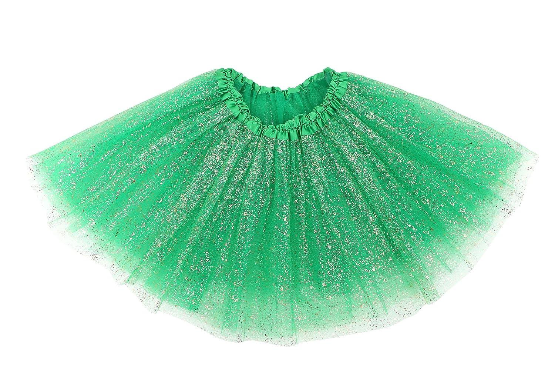 KEA KEA Kid's Sparkly Glitter Tulle Ballerina Fairy Princess Tutu Skirt