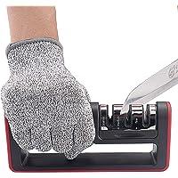 Aptoyu 3-Stage Knife Sharpener (Cut-Resistant Glove Included)