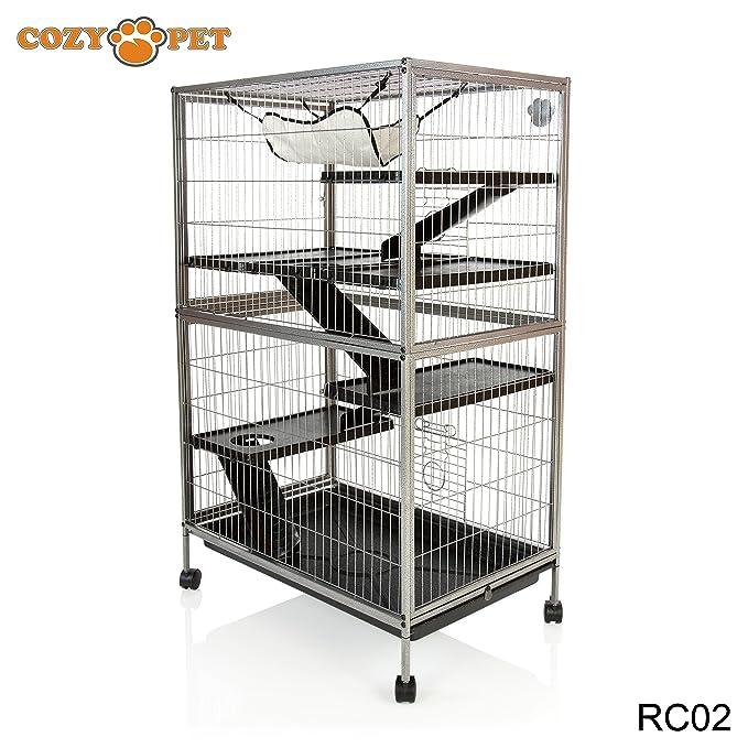 Cozy Mascotas roedores Jaula para ratas, hurón, Chinchilla, Degu o ...