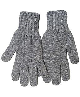 Gajraj Men's Woolen Free Size Gloves Grey