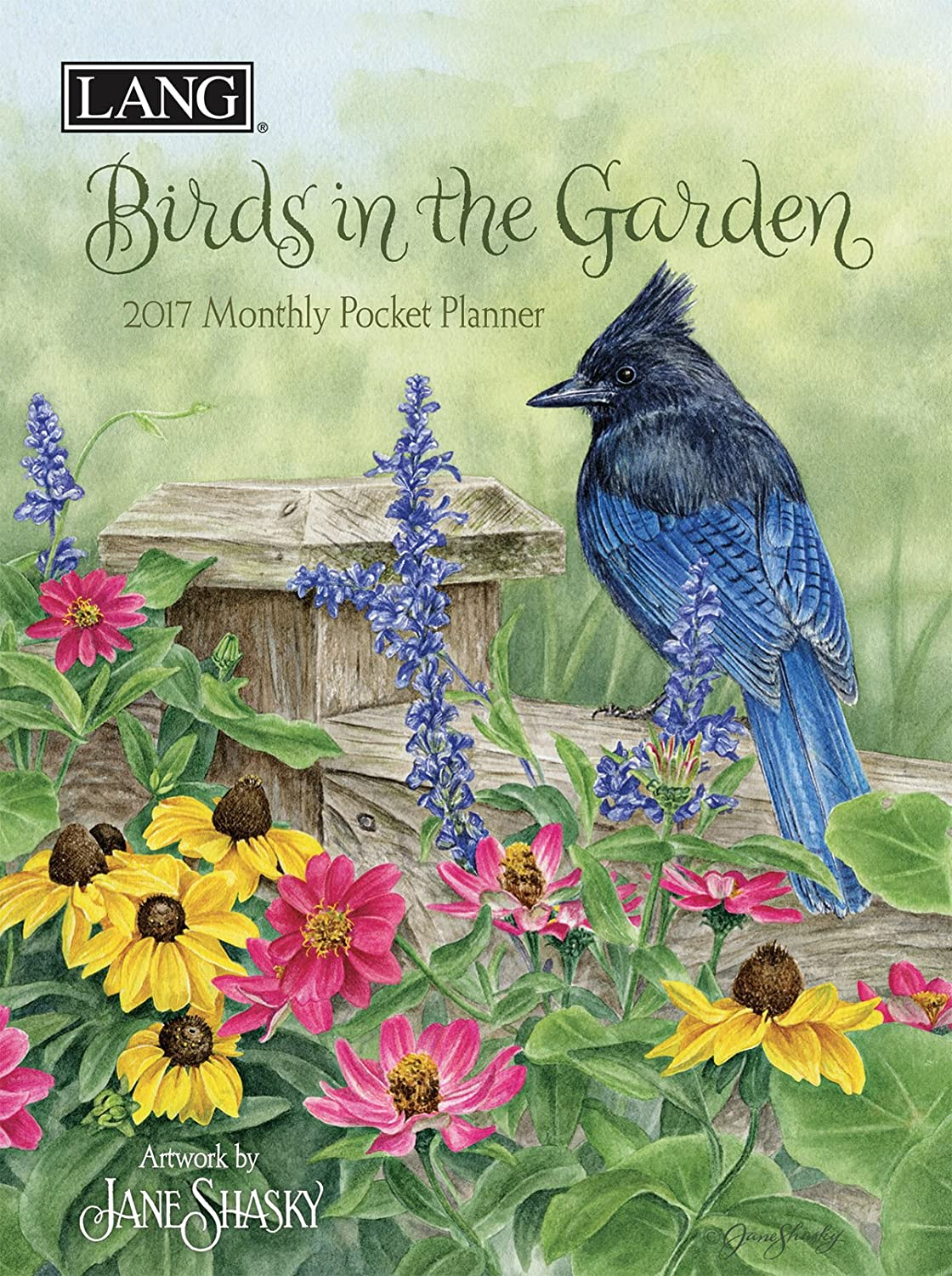 Lang 2017 Birds In The Garden Monthly Pocket Planner, 4.5 x 6.5 inches (17991003182)