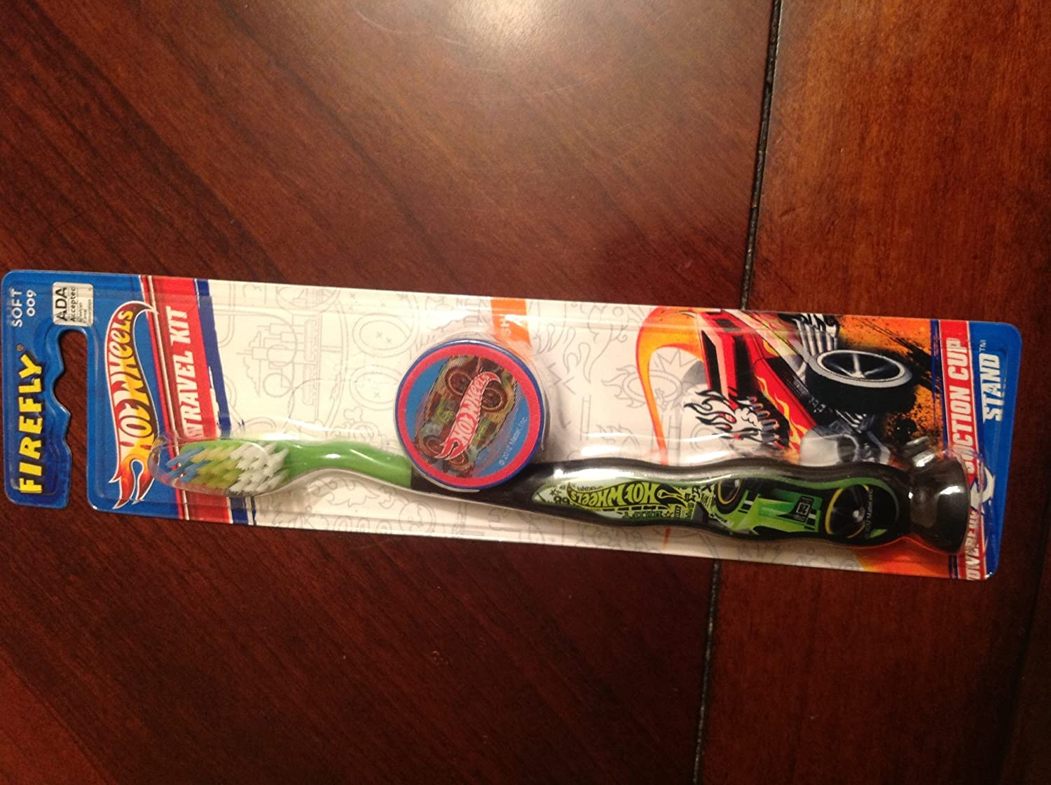 Firefly Hot Wheels Soft Toothbrush with Suction Cup Travel Kit