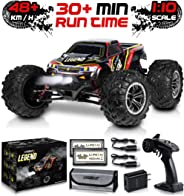 1:10 Scale Large RC Cars 48+ kmh Speed - Boys Remote Control Car 4x4 Off Road Monster Truck Electric - All Terrain Waterproo