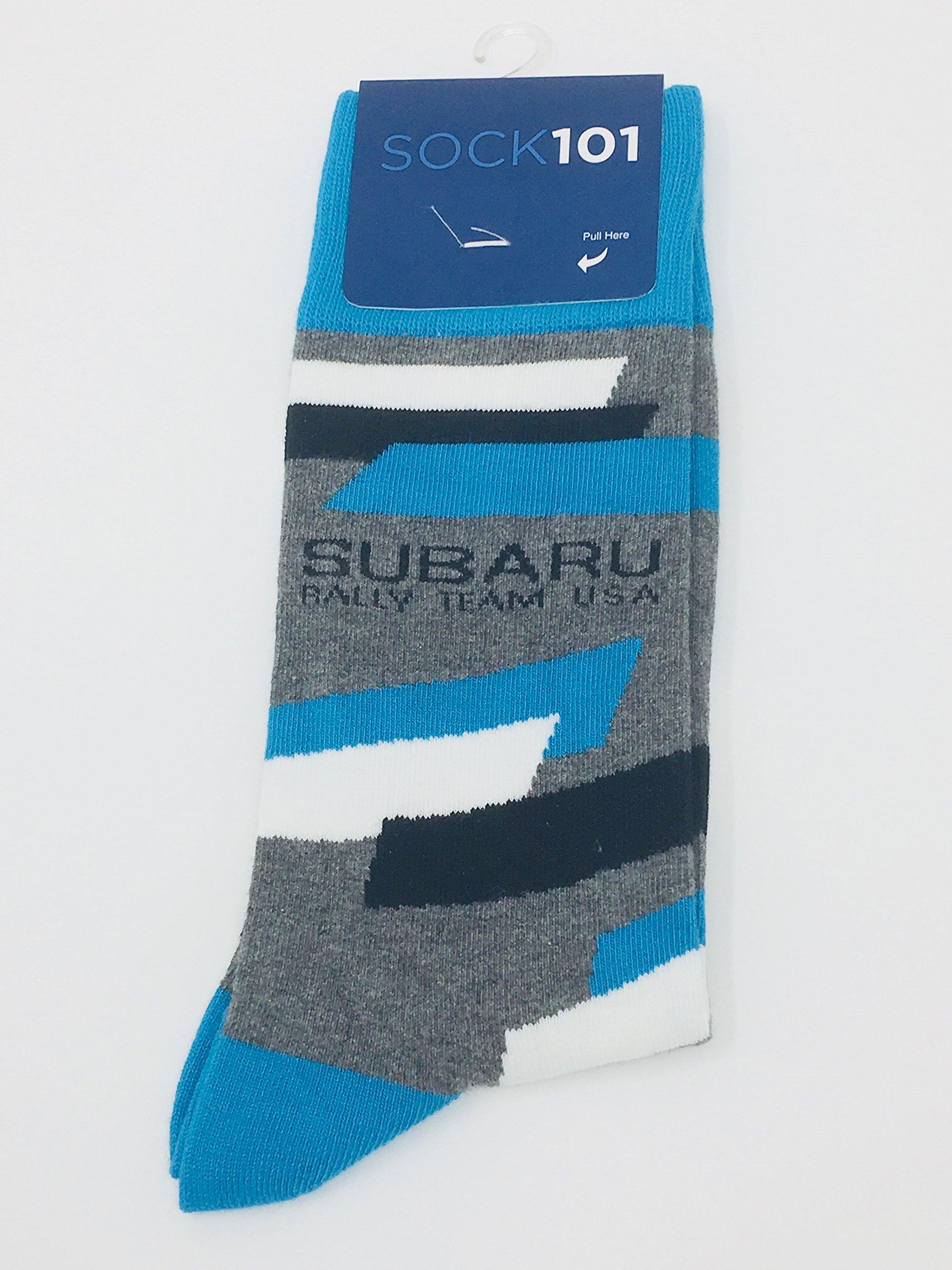 Subaru Genuine Socks Rally Team USA Logo Sti WRX Impreza Official Blue Cotton